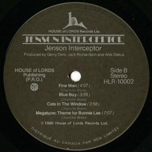 Jenson Interceptor LP Side B