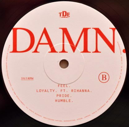 Kendrick Lamar – Damn LP B