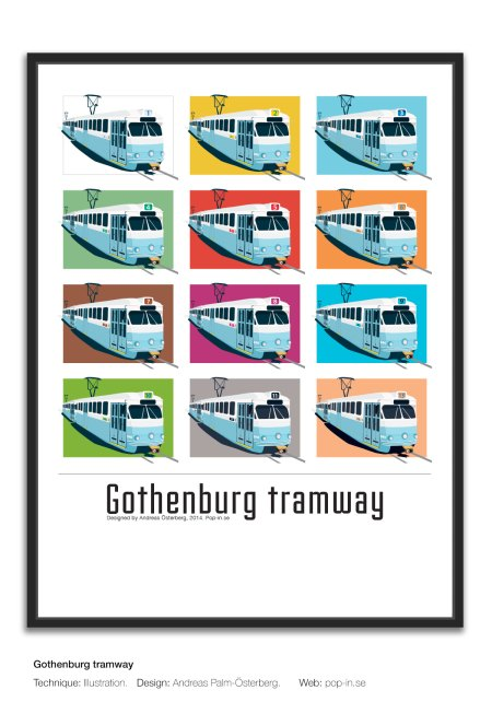 Gothenburg tramway framed