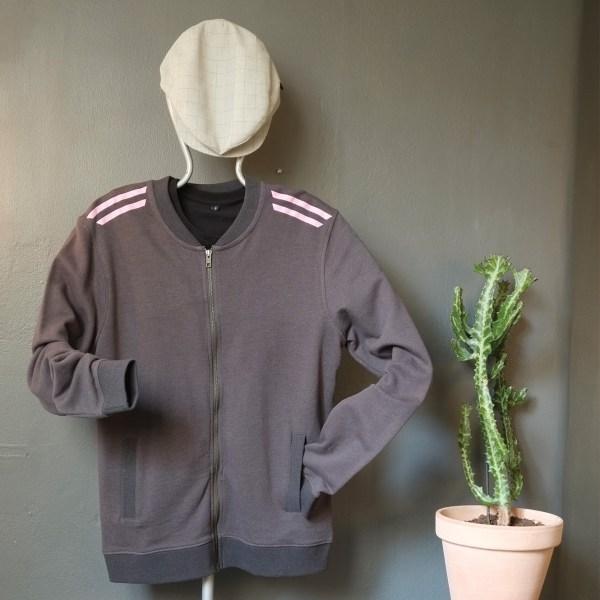 Pop-in stripes jacket pink