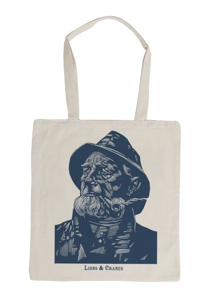 Lions and cranes Fisherman tote
