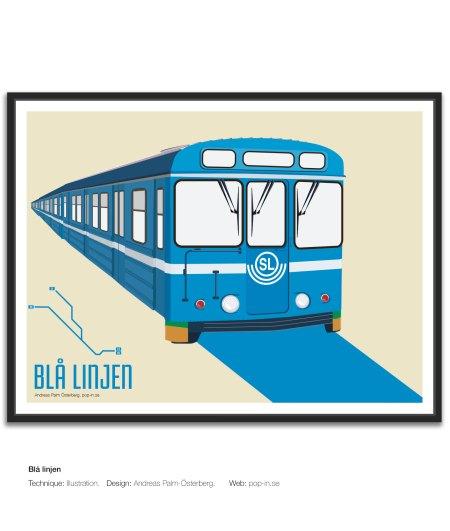 Blå linjen tunnelbana