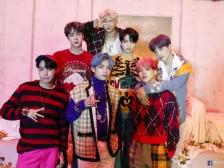 Les membres du groupe BTS
