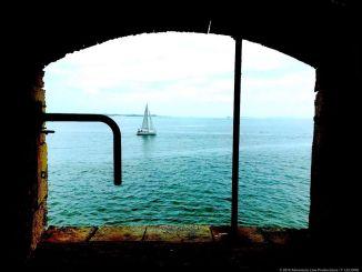 Une vue sur la mer à partir du Fort Boyard (Crédits photo : Fort Boyard).
