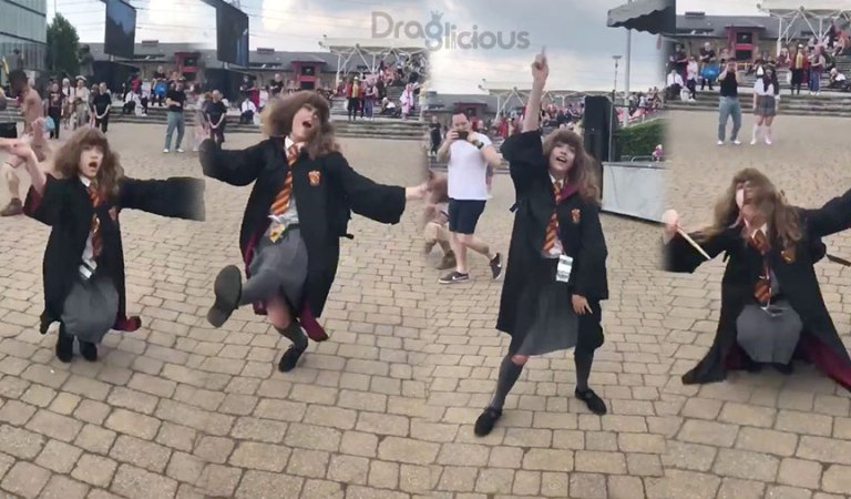 """""""Hermione"""" arrasa no vogue na ComicCon de Londres"""