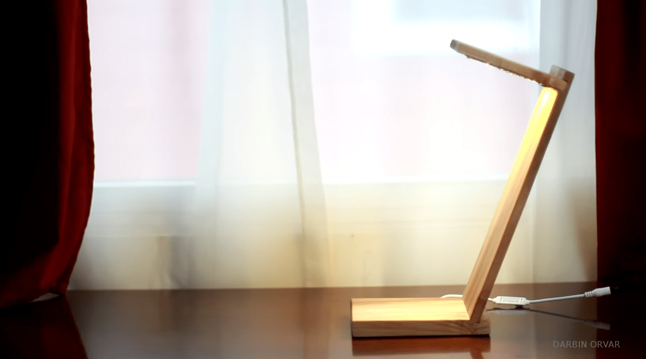DIY LED Desk Lamp Is an Elegant Lighting Solution