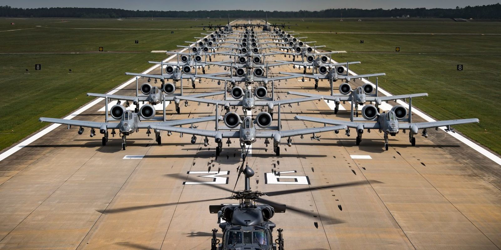 The Air Force Assembled 30 A10 Warthogs Just to Show That it Can