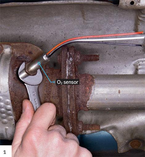 2003 honda crv exhaust system diagram sabs wiring trailer plug 5 core replace oxygen sensor - o2 circuit replacement