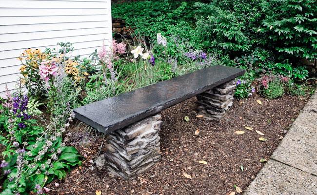 How To Build A Stone Garden Bench