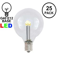 picture of warm white g40 glass led replacement bulbs 25 pack [ 1550 x 1550 Pixel ]