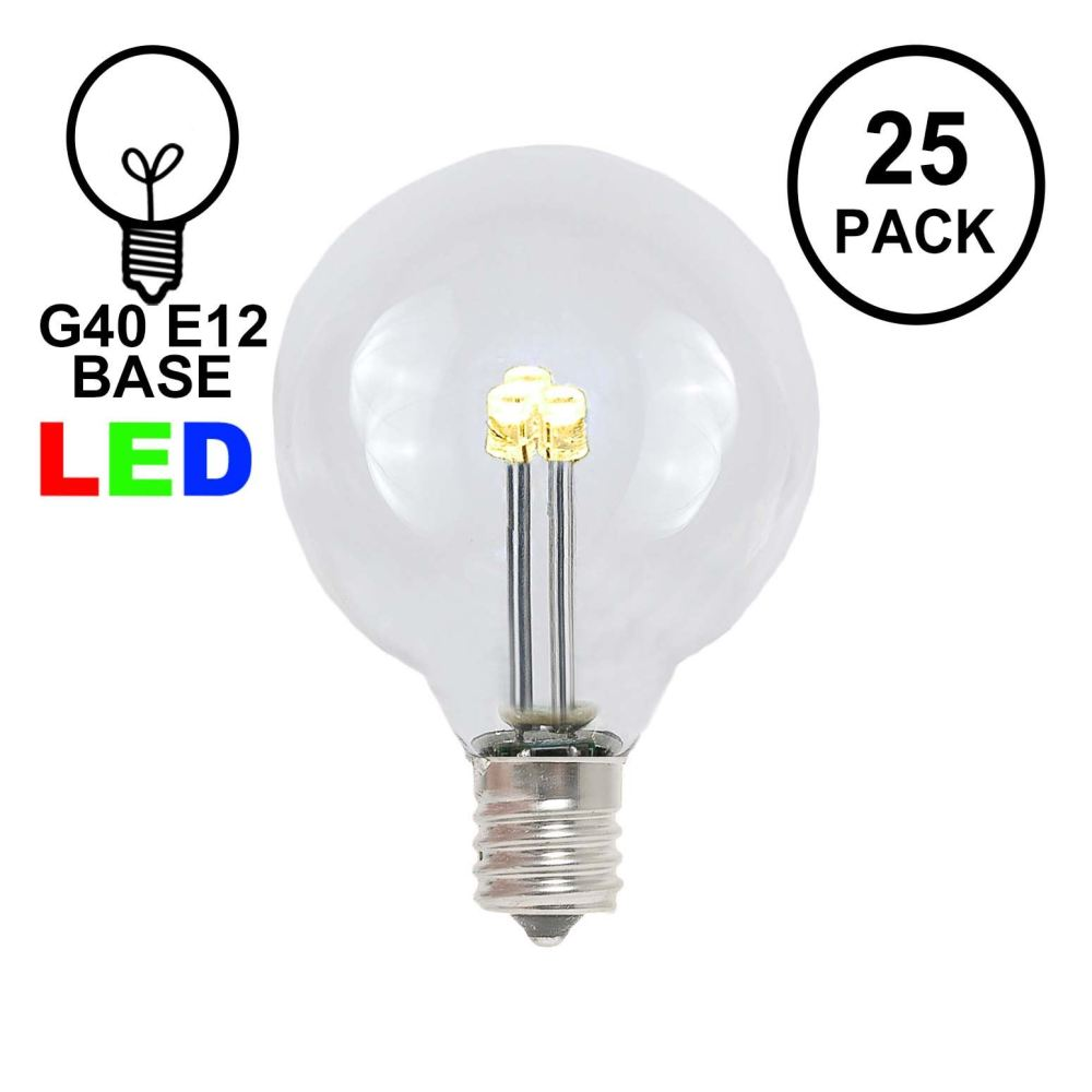 medium resolution of picture of warm white g40 glass led replacement bulbs 25 pack