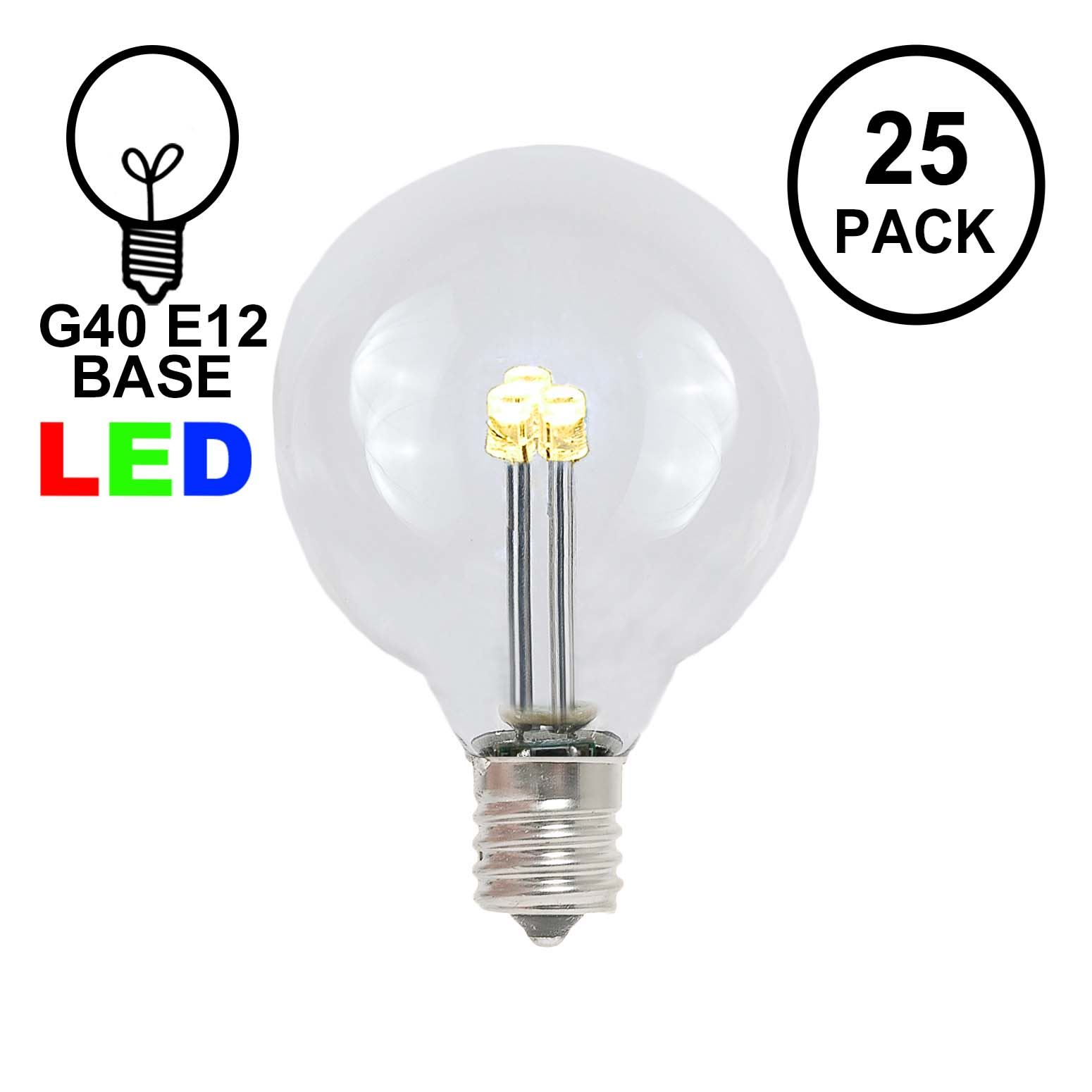 hight resolution of picture of warm white g40 glass led replacement bulbs 25 pack