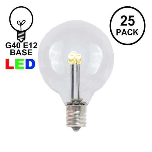 small resolution of picture of warm white g40 glass led replacement bulbs 25 pack