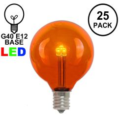 picture of orange amber g40 glass led replacement bulbs 25 pack [ 1550 x 1550 Pixel ]