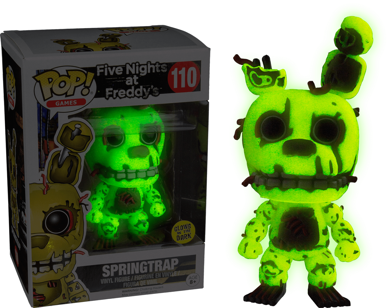 Five Nights At Freddy S Pop Vinyl Springtrap Glow In The
