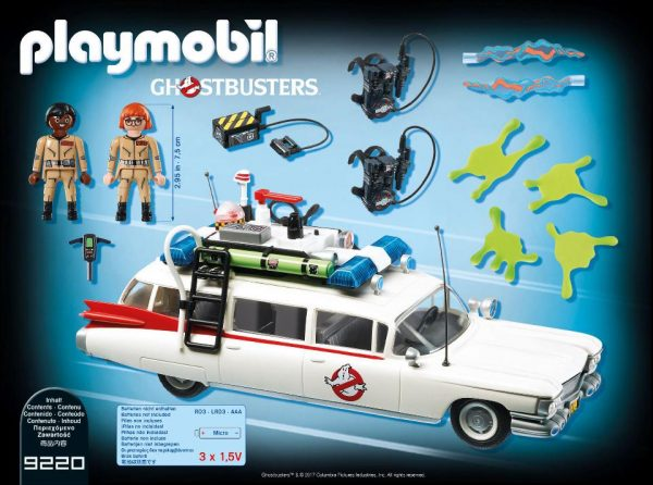 Playmobil Ghostbusters 9220 Ecto-1 Vehicle and figures product inclusion - ecto-1 vehicle ghostbusters playmobil - pop toys