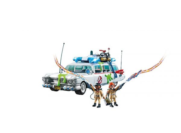 Playmobil Ghostbusters 9220 Ecto-1 Vehicle and figures demo - ecto-1 vehicle ghostbusters playmobil - pop toys