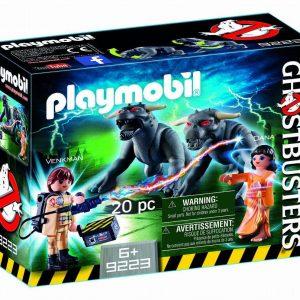 Playmobil Ghostbusters 9223 Peter Venkman, Zuul &; Terror Dogs - ghostbusters product front box playmobil - pop toys