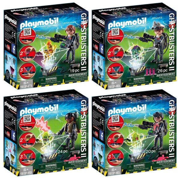 Playmobil Ghostbusters 2: 9346 9347 9348 9349 Set of 4 figures - playmobil ghostbusters full pack playmobil - pop toys