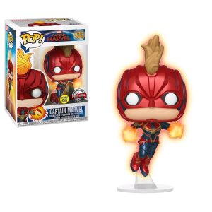 Captain Marvel Pop Vinyl Captain Marvel Unmasked 3.75