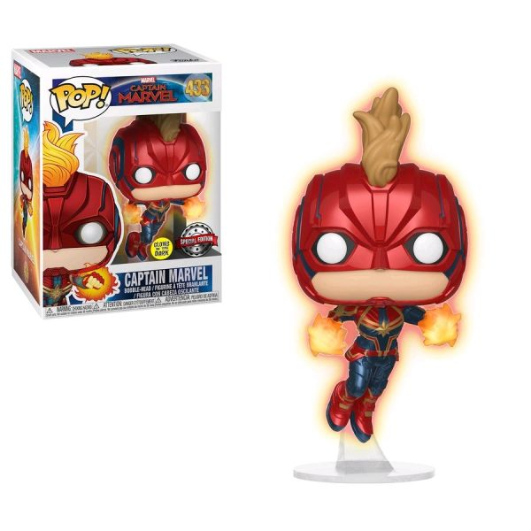 Captain Marvel Pop Vinyl Masked Flight Glow 3.75