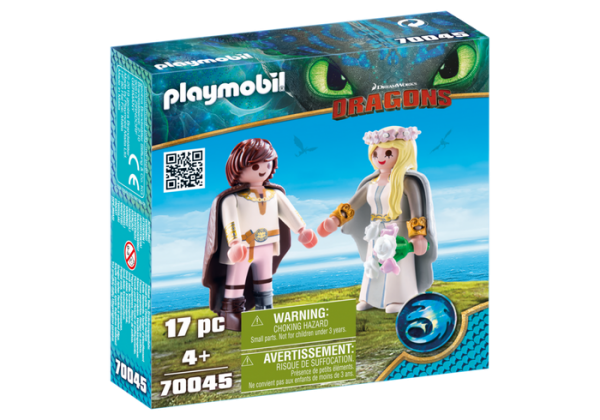 Playmobil Dragons 70045 Hiccup and Astrid Bridal figures - image 70045_product_box_front-600x420 on https://pop.toys