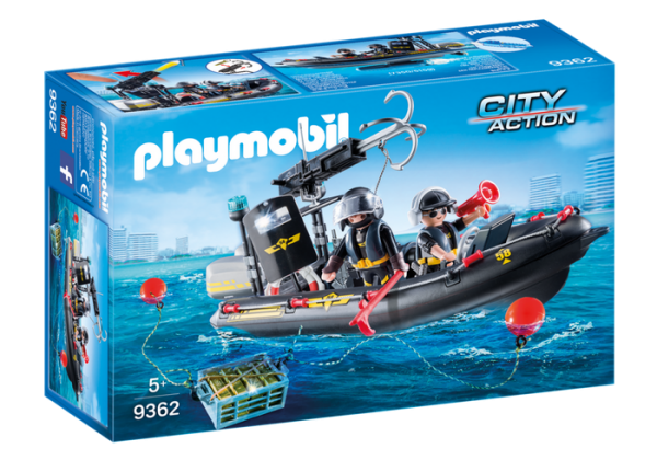 Playmobil City Action 9362 SWAT Tactical Unit Boat - image 9362_SWAT-Boat-600x420 on https://pop.toys