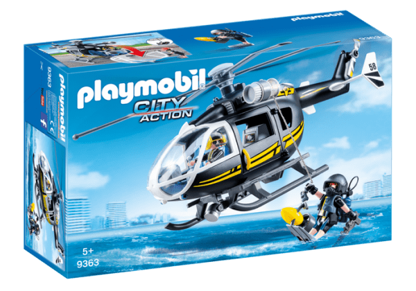 Playmobil City Action 9363 SWAT Tactical Unit Helicopter - image 9363_SWAT-Helicopter-600x420 on https://pop.toys