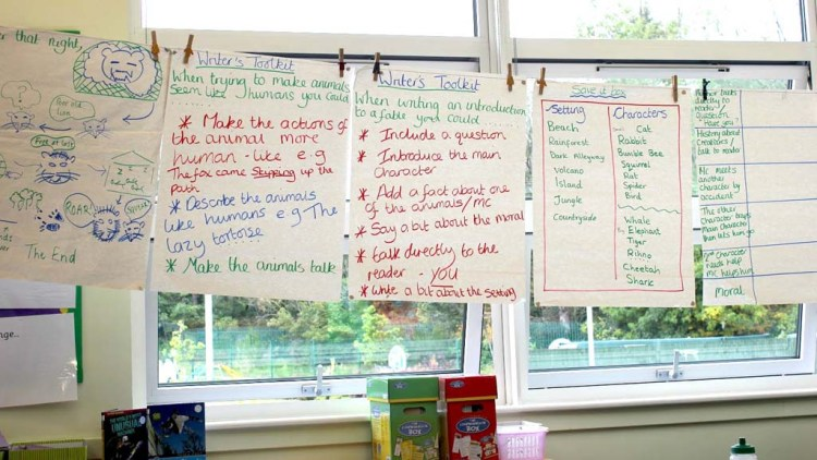 Image of washing lines activity in a classroom