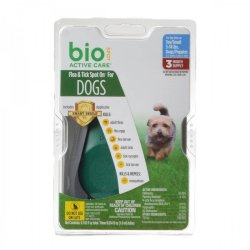 Bio Spot Active Care Flea & Tick Spot On for Dogs (Medium - 3 Month Supply - (Dogs 15-30 lbs))