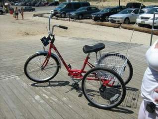 This red, Miami Sun tricycle, which belongs to the Seaside Heights Office of Public Relations, was stolen the early morning hours of July 18th. Quick work by the SHPD resulted in its rapid return.