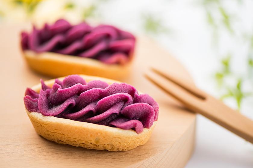 跟著日本女生製作沖繩名物-「紫薯撻」