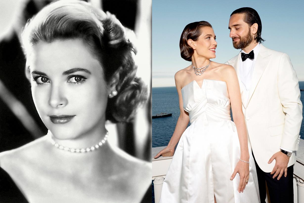 Charlotte Casiraghi 摩洛哥叛逆公主兩套絕美訂製婚紗,Grace Kelly 星三代孫女!