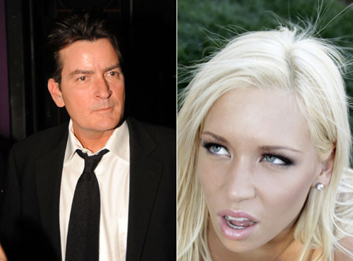 Charlie Sheen and Kacey Jordan