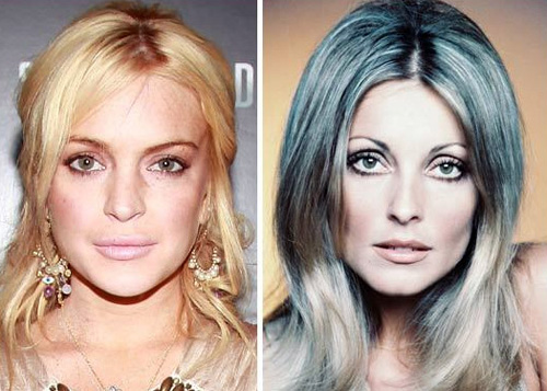 Lindsay Lohan and Sharon Tate
