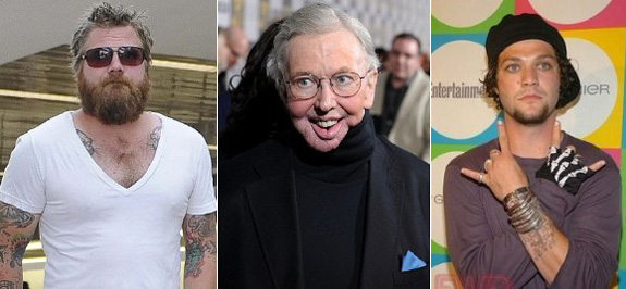Ryan Dunn, Roger Ebert and Bam Margera