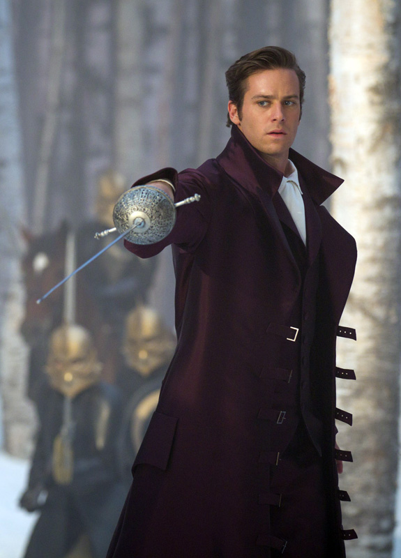 Armie Hammer as the Prince