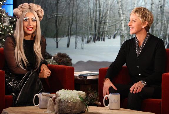 Lady Gaga and Ellen DeGeneres