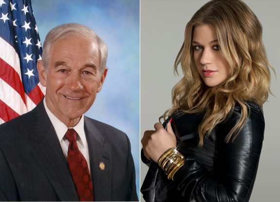 Ron Paul and Kelly Clarkson