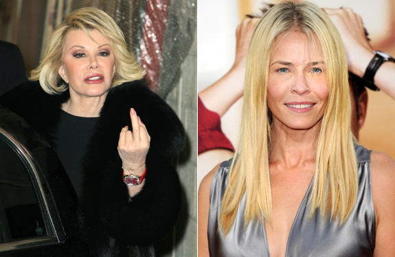 Joan Rivers and Chelsea Handler