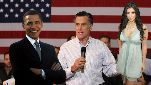 Barack Obama, Mitt Romney and Kim Kardashian