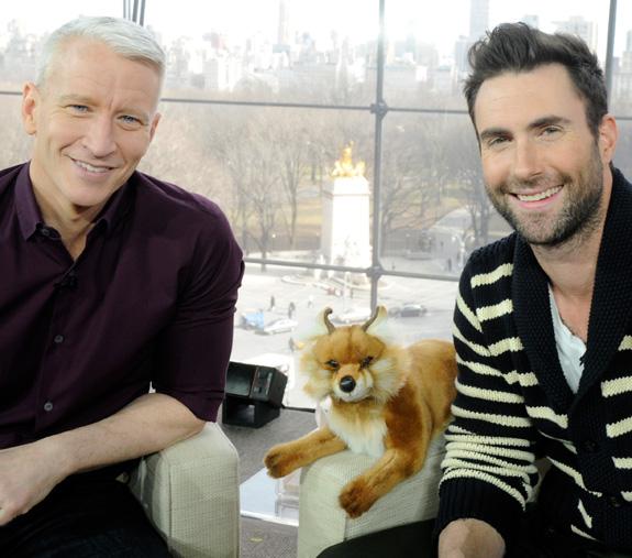 Anderson Cooper and Adam Levine
