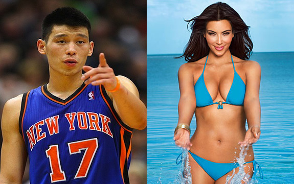 Jeremy Lin and Kim Kardashian