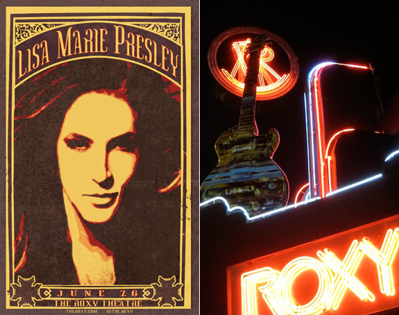 Lisa Marie Presley at The Roxy