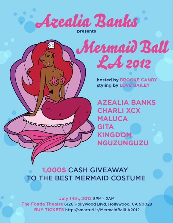 Azealia Banks - Mermaid Ball - Los Angeles