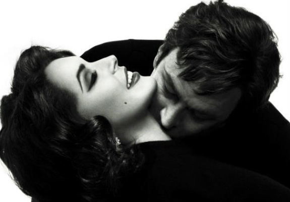 Lindsay Lohan and Grant Bowler as Elizabeth Taylor and Richard Burton