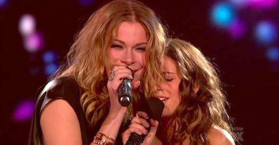LeAnn Rimes and Carly Rose Sonenclar on 'The X Factor'