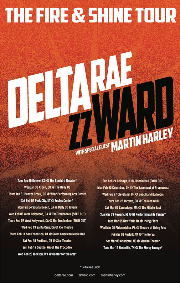 Delta Rae and ZZ Ward / Fire & Shine Tour