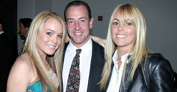 Lindsay, Michael and Dina Lohan