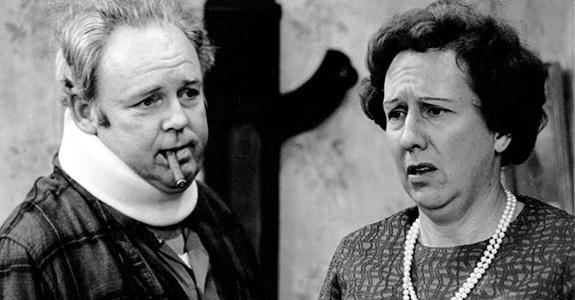 Jean Stapleton and Carol O'Connor